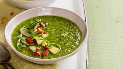Vihreä gazpacho-keitto