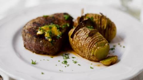 Chateaubriand ja hasselbackan perunat