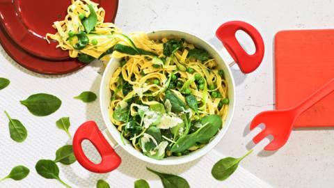 Vihreä pasta Alfredo