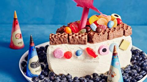 Aarrelaiva-jäätelökakku