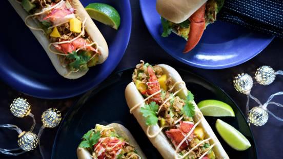 Hot dog -luksusherkku: hummerihodari