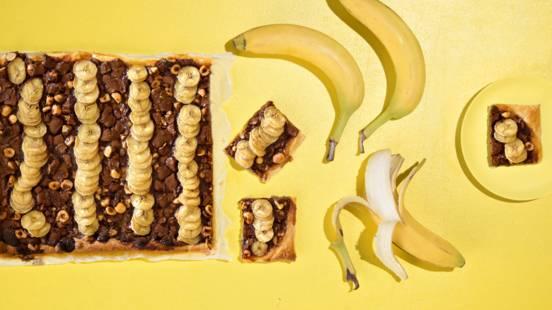 Banaani-suklaatorttu