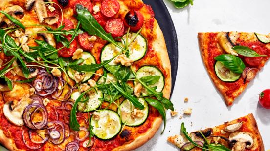 Vegaaninen grillipizza