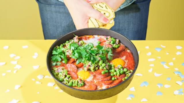 Flamenco-munat ja chorizoa