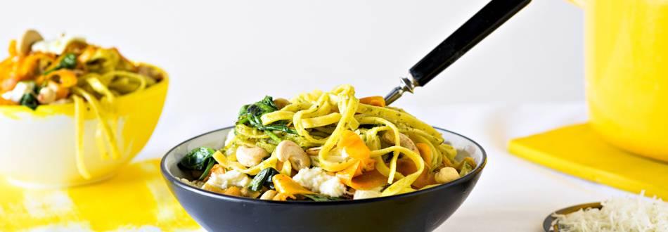 Vartissa valmis: porkkana-mozzarellapasta